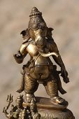 Bronze Ganesh On Indian Antique Market