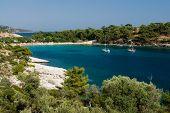 Постер, плакат: Алики Beach Остров Тасос Греция