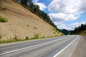 pic of sakhalin  - The Mountain road on island Sakhalin by summer - JPG