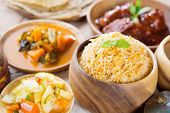 stock photo of malaysian food  - Biryani rice or briyani rice - JPG