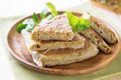 Mutabbaq (Arabian Stuffed Bread/Arabic Paratha)