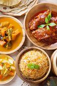 image of biryani  - Biryani rice or pilaf rice with curry - JPG