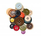 Buttons Of Different Size, Shape And Color