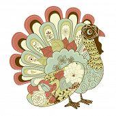 Feliz cartão de ação de Graças bonito Turquia