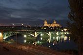 Salamanca Cathedrals At Night