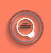 Vector zoom icon modern flat design