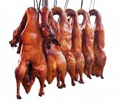 stock photo of roast duck  - Many of the delicious roast duck - JPG