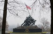 WASHINGTON, DC - NOV 30: Iwo Jima Memorial  in Washington, DC on November 30, 2012. The Memorial honors the Marines who have died defending the US since 1775.
