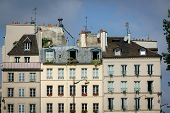 Parisian Houses And Rooftops On The Left Bank, Paris