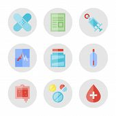 Conjunto de ícones médica