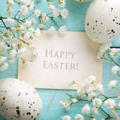 Easter greeting card, frame background