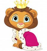 A cute Cartoon Lion King