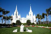 Temple of The Church of Jesus Christ of Latter-Day Saints (LDS) or Mormons in San Diego