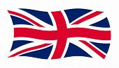 Vector illustration of Great Britain flag waving in the wind