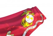 image of united states marine corps  - Illustration of United States Marine Corps  flag with sky - JPG