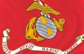 picture of united states marine corps  - Illustration of United States Marine Corps  flag waving in the wind  - JPG