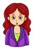 foto of inner ear  - Illustration of a redhead businesswoman on a white background - JPG