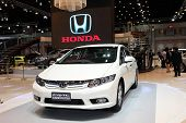 Bangkok - March 26: Honda Civic Hybrid Car On Display At The 34Th Bangkok International Motor Show O