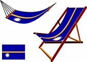 Nauru Hammock And Deck Chair Set