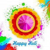 illustration of colorful gulal ( colored powder ) for Happy Holi