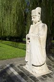 Statue of a Civil Official in The General Sacred Way of the Ming Tombs. It was built between 1435 an