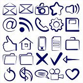 Computer Icon Collection symbols vector illustration