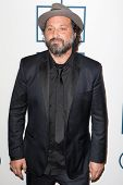 BEVERLY HILLS, CA. - JANUARY 25: Mr. Brainwash arrives at the Clive Davis and The Recording Academy annual Pre-GRAMMY Gala on January 25th 2014 at the Beverly Hilton in Beverly Hills, California.