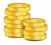 Gold Coins. vector