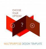 Paper geometric shape multipurpose design template