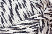 skein of yarn melange closeup