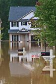 foto of flood  - Rains flooding newly built subdivision Austell Ga - JPG