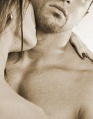 picture of kissing couple  - male and female bonding - JPG