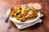 Roasted Chicken Leg with Vegetables