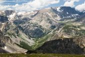 foto of beartooth  - View of the Bears Tooth from the Beartooth Highway - JPG