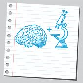 Brain and microscope