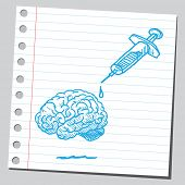 Brain and syringe