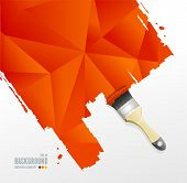 Vector paint brush and triangle background
