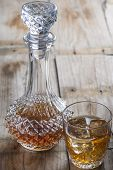 Crystal Clear Luxury Glass Bottle With Liquor
