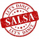 Salsa Red Vintage Grungy Isolated Round Stamp