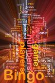 Bingo Spiel Hintergrund Konzept glühend