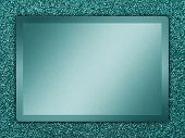 picture of bronze silver gold platinum  - Cyan colored metallic plate on a cyan metallic background - JPG