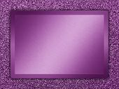 foto of bronze silver gold platinum  - Purple colored metallic plate on a purple metallic background - JPG