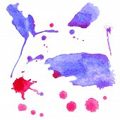 Hand drawn illustration -  watercolor blots