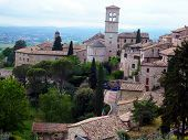 Panorama Of The Old City Of Assisi In Italy