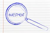 Focusing On Investment, Magnifying Glass Design