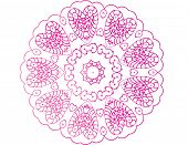 Colorful Zentangle pattern on white background