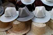 Moroccan hats on the market, marrakesh