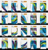 Set of business geometric design flyer templates - huge mega collection of 20 backgrounds