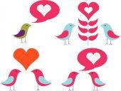 Vector Pack Of Love Birds