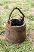 Wooden Bucket.